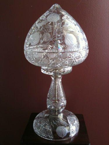 Antique Cut Crystal Lamp 1907 Rare Unique Ebay