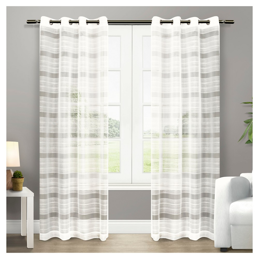 Set of 2 Michel Curtain Panels Off-White (50\