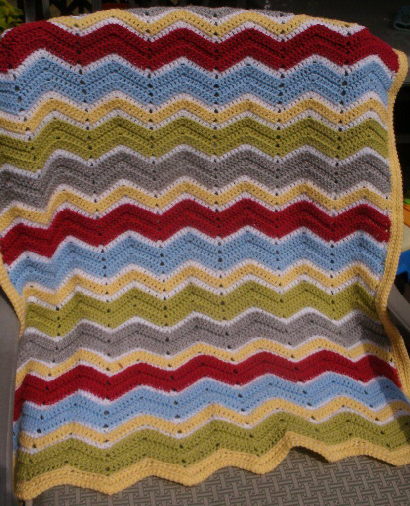 Baby Blanket - Ripple Stitch