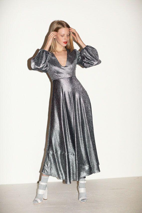 54edb30d3815b Zimmermann Dress SALE 20% OFF- Steel Adorn Metallic Plunge Dress ...