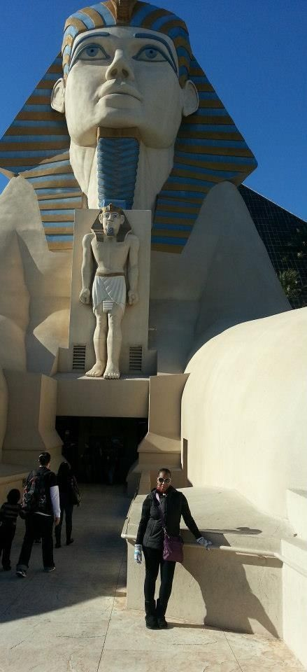 Spending my 40th birthday at the Luxor Hotel , Las Vegas NV.