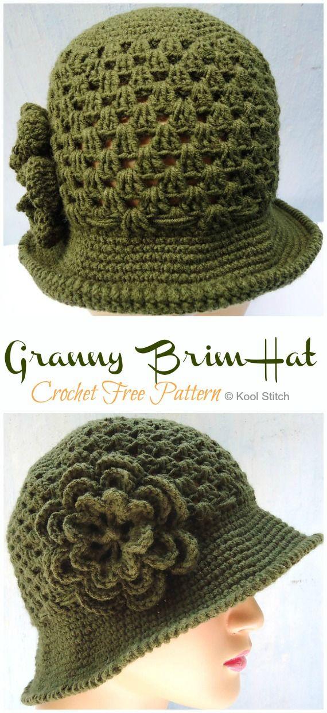 Granny Brim Sun Hat Crochet Free Pattern - Crochet & Knitting