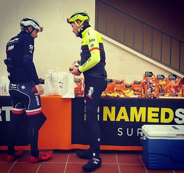 source instagram treksegafredo  Fuelling up for the last training for most of our riders at #trainingcamp @jshcollection @namedsport  treksegafredo  2017/12/16 18:43:30