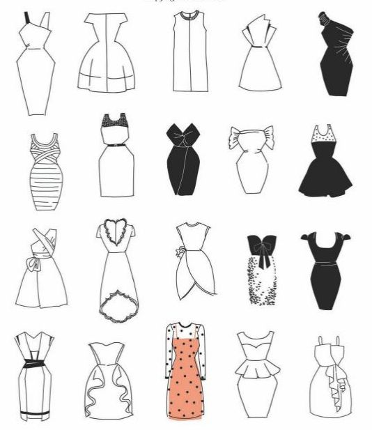 Drawing Simple Dresses Lots More Examples Of Shirts Shoes Accessories When You Fashion Design Sketchbook Fashion Drawing Dresses Fashion Design Drawings