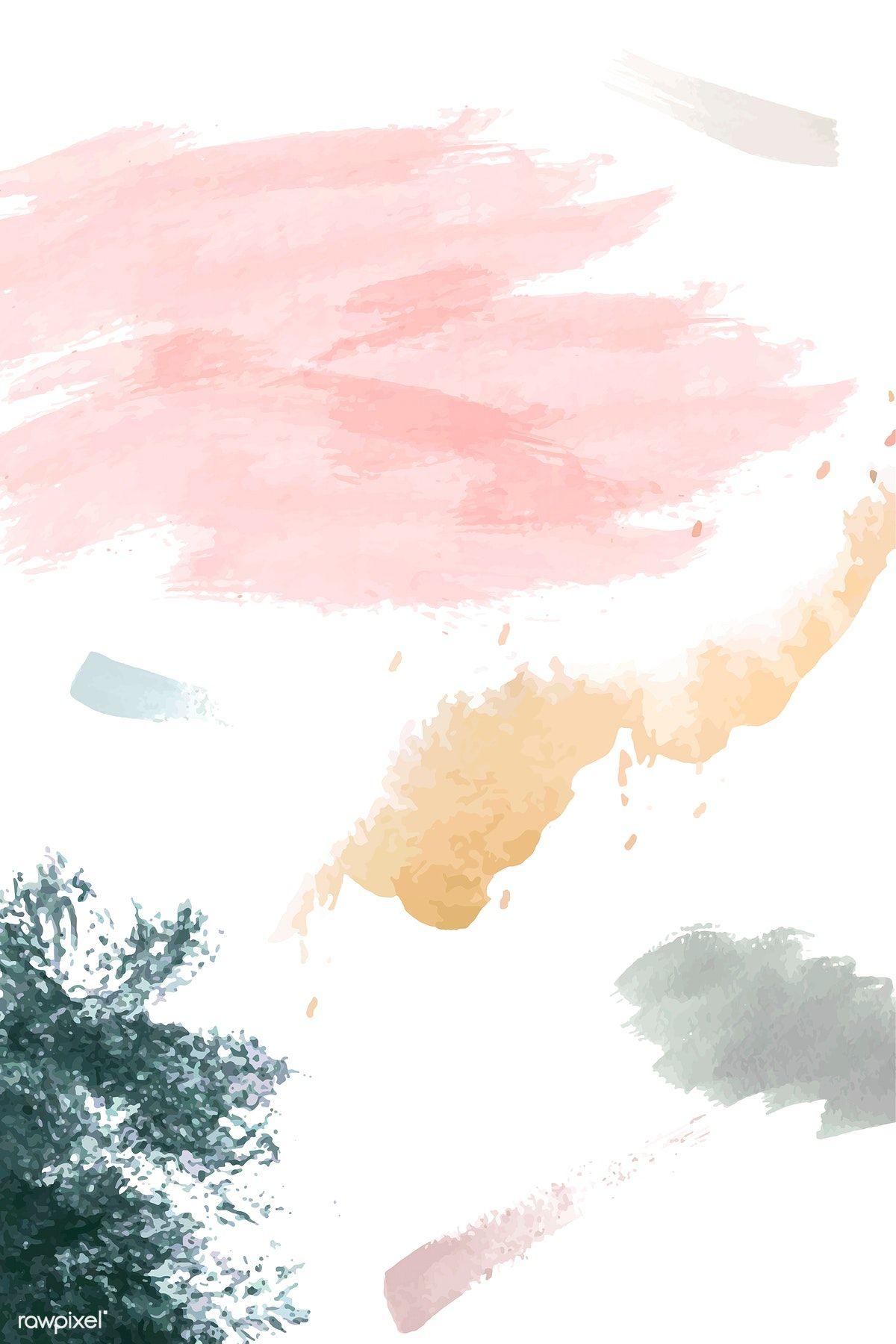 Pastel Watercolor Textured Background Vector Free Image By