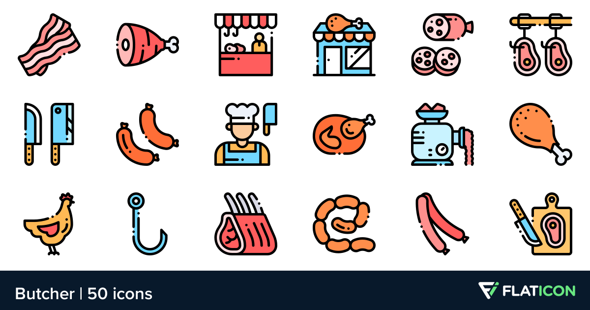 50 free vector icons of Butcher designed by Freepik (With