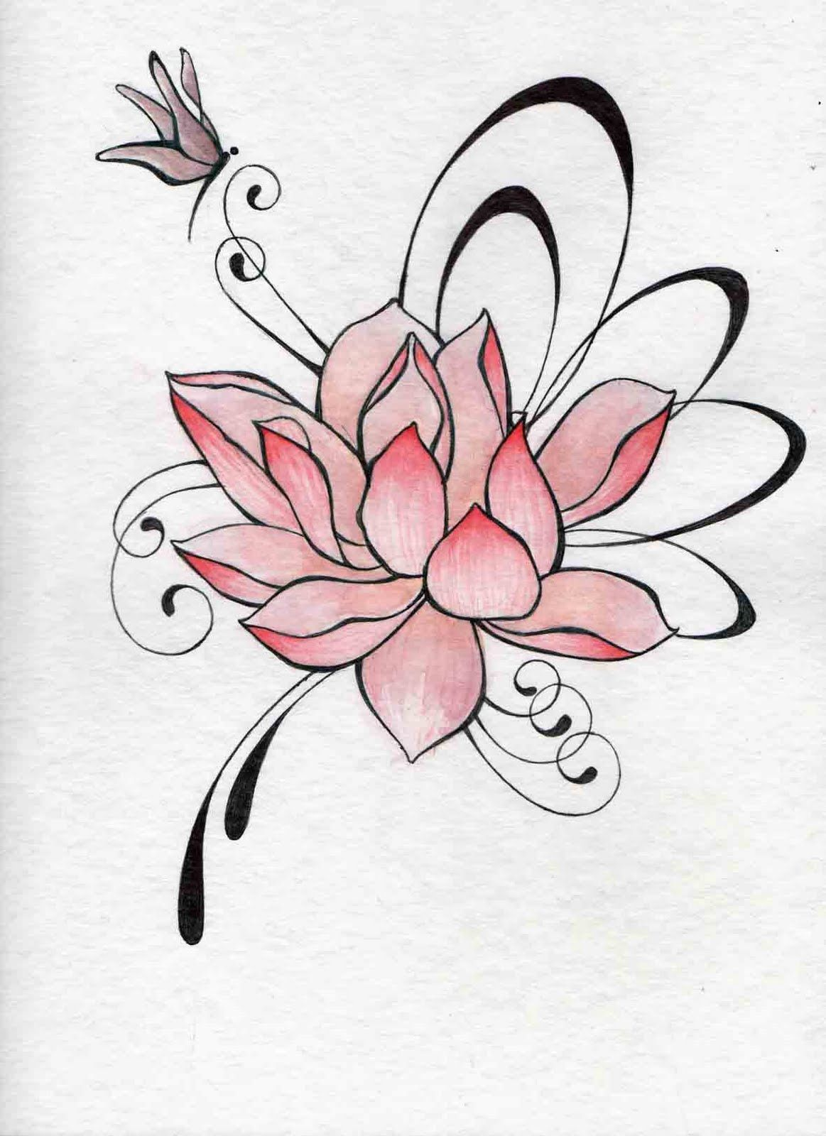 Serie De Flores Dessin A La Plumes Pinterest Tatoo Tattoo And