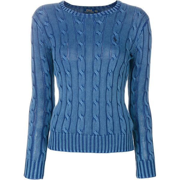 Polo Ralph Lauren fitted cable knit jumper ($190) ❤ liked on ...