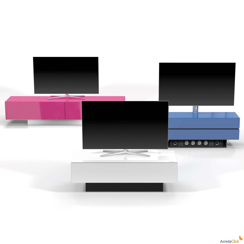 Meuble Tv En Verre Brick Par Spectral Arredaclick Meuble Tv  # Meuble Tv Plasma Design Divano