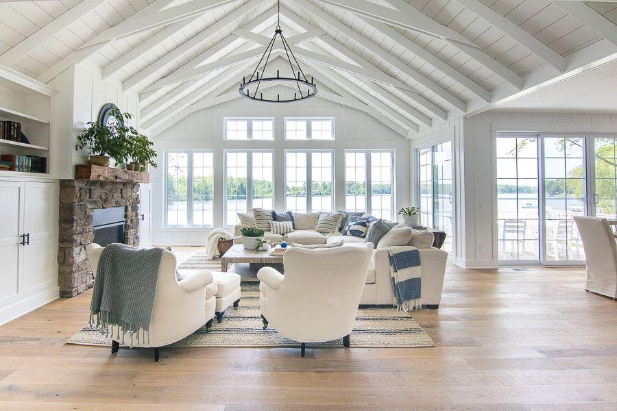 Lake House Blue And White Living Room Decor Luxury Living Room