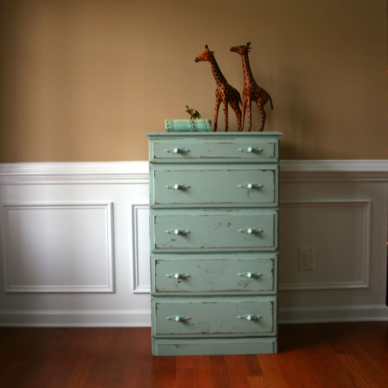 sale cij shabby chic chest of drawers pastel wooden. Black Bedroom Furniture Sets. Home Design Ideas