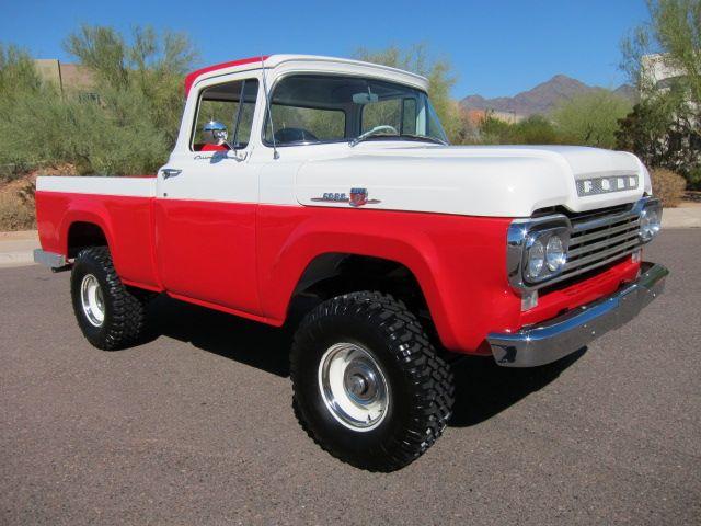 1959 Ford F 100 Custom Cab Pick Up 4x4 Ford Pickup Trucks