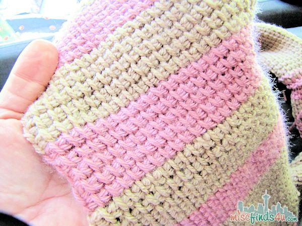 Tunisian Crochet Free Infinity Scarf Pattern | Crochet tunecino y Tejido