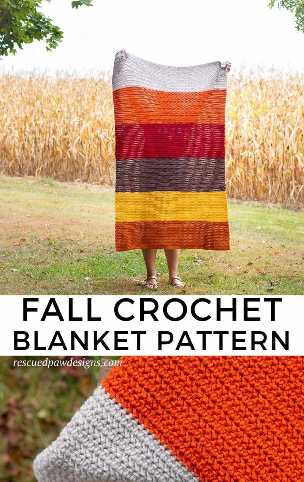 Herringbone Half Double Crochet Blanket Easycrochet Com Crochet Blanket Patterns Fall Crochet Patterns Modern Crochet Blanket