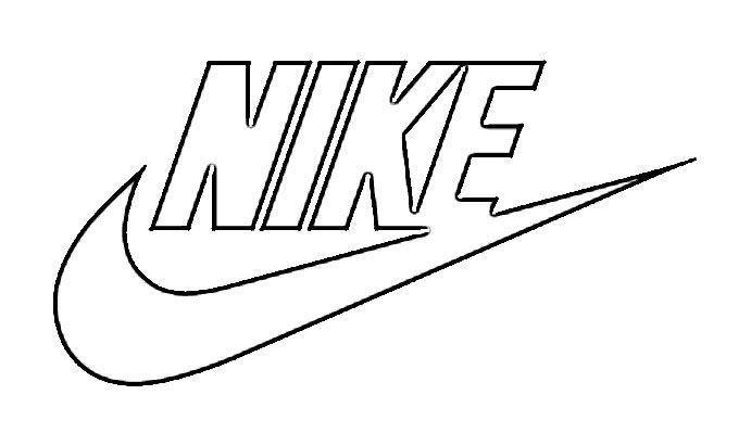 Nike Logo Coloring Pages drawing