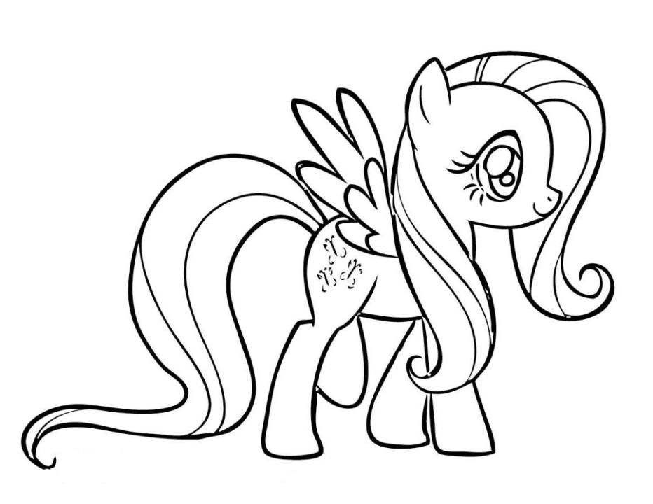 Print My Little Pony Coloring Pages Fluttershy or Download My