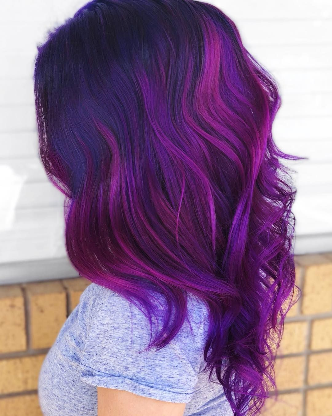 63 Purple Hair Color Ideas To Swoon Over Violet Purple Hair Dye Tips:  Color Chemist Updo&MU Artist