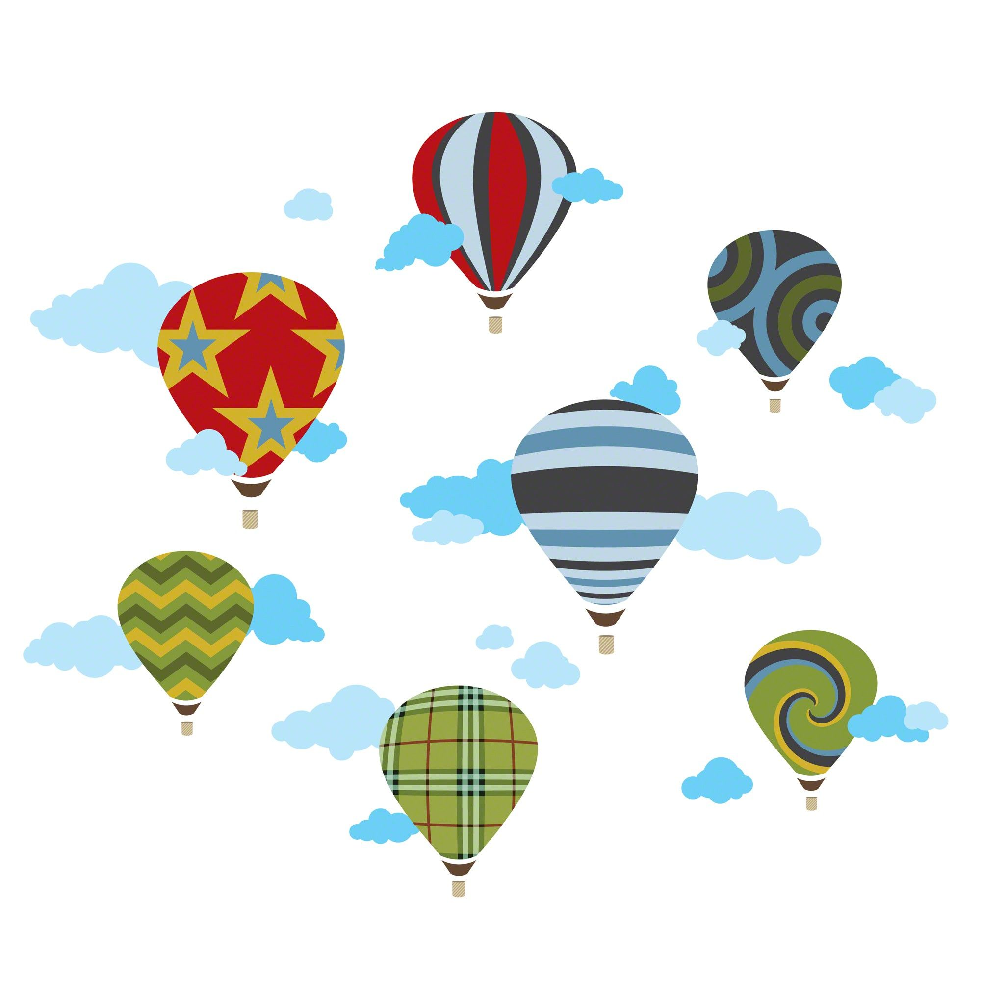 Hot Air Balloons Wall Decals to use as templates