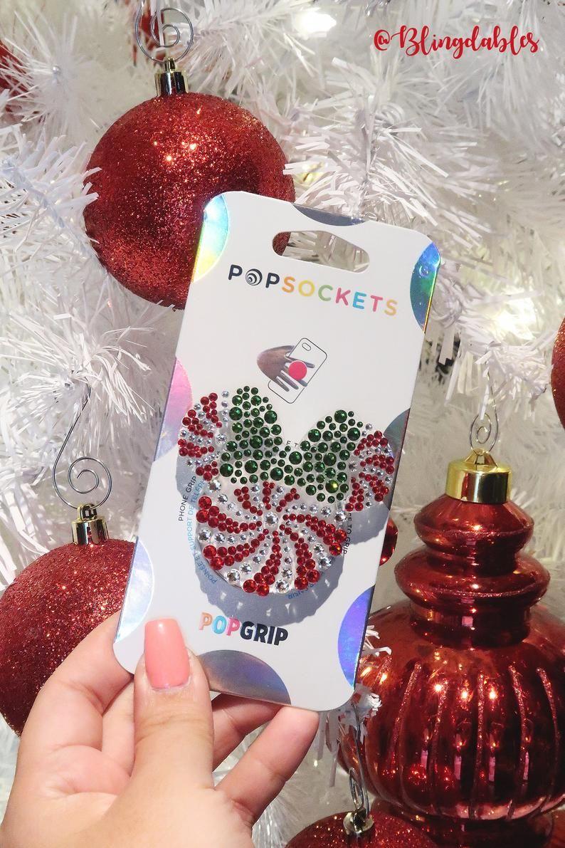 popgrip Disney phone case phone grip Disney inspired popsocket Christmas Minnie Mouse popsocket