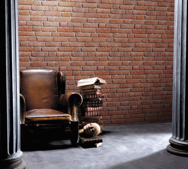 Orangish-red brick 8888-100 - Seinäruusu - Verkkokauppa