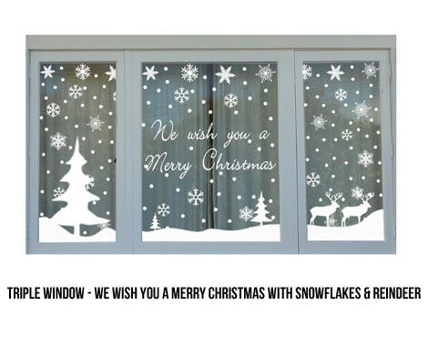 From 12 For Christmas Window Stickers Decorations