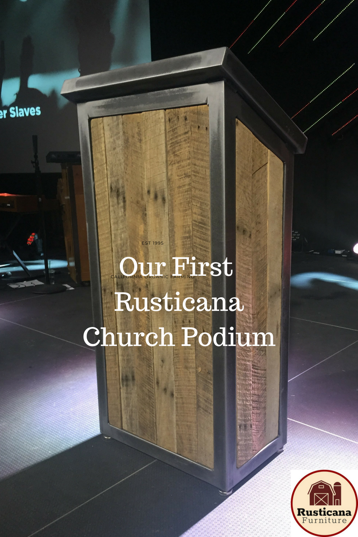 This Is Our First Welded Steel Church Podium Complete With