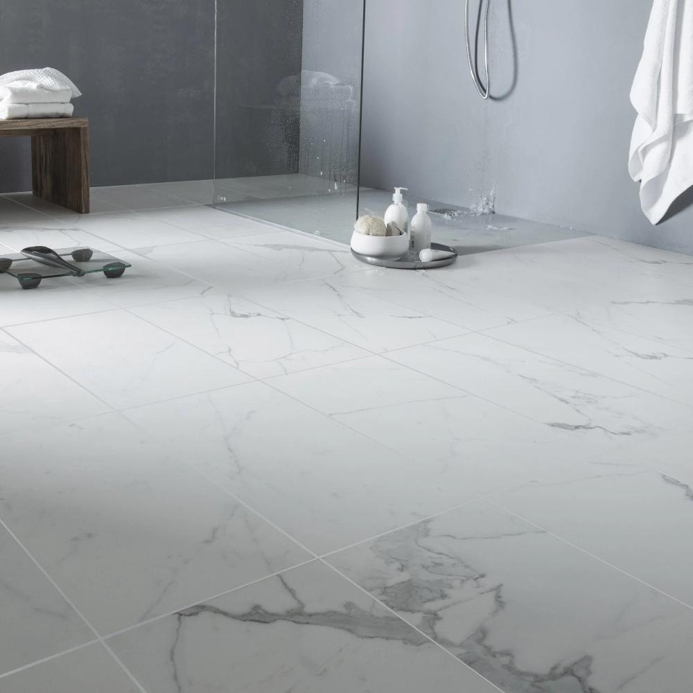 Carrelage Sol Et Mur Blanc Effet Marbre Rimini L 60 X L 60 Cm In 2020 Flooring Inspiration Tiles