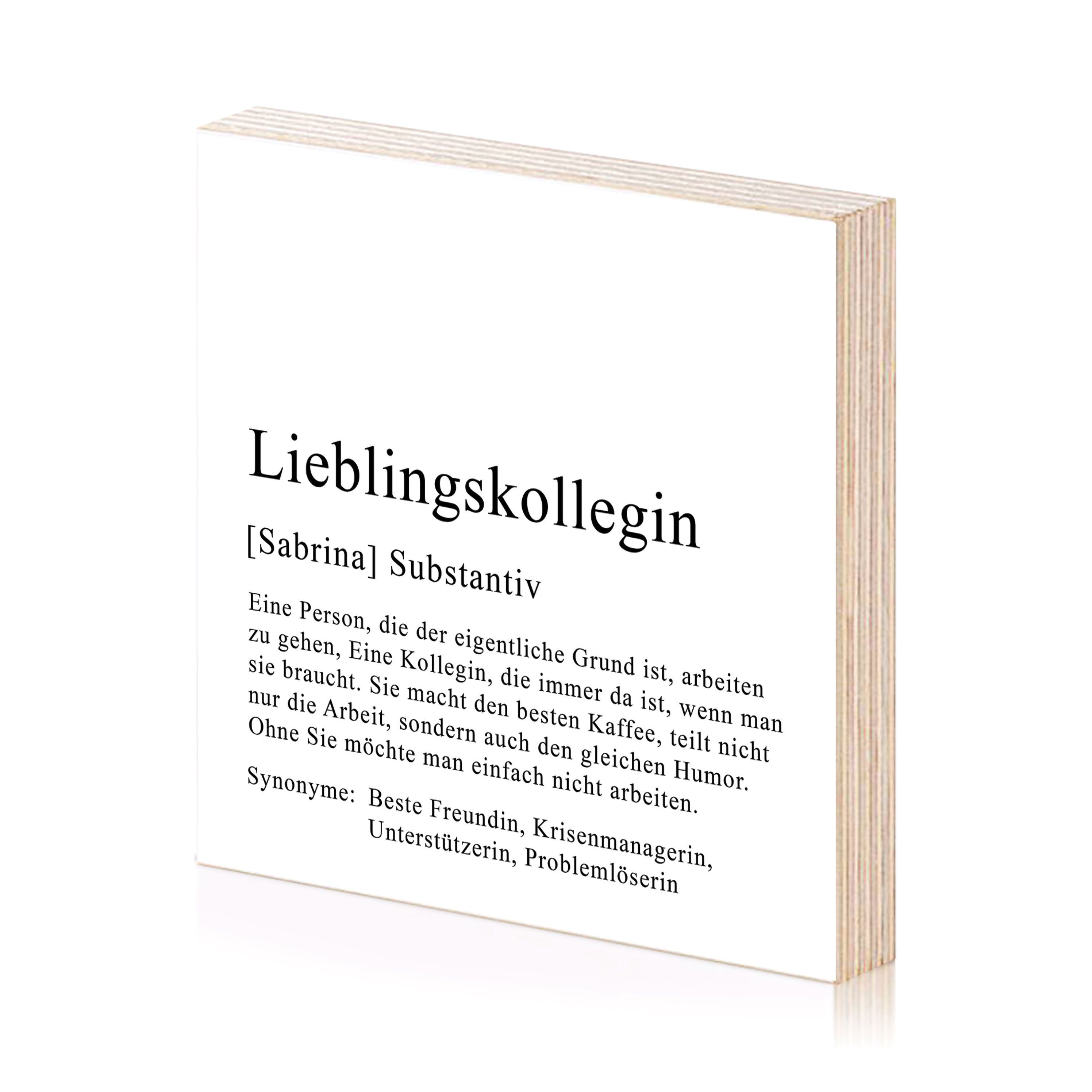 Lieblingskollegin Kunstdruck Personalisiertes Bild Aus Holz Zum