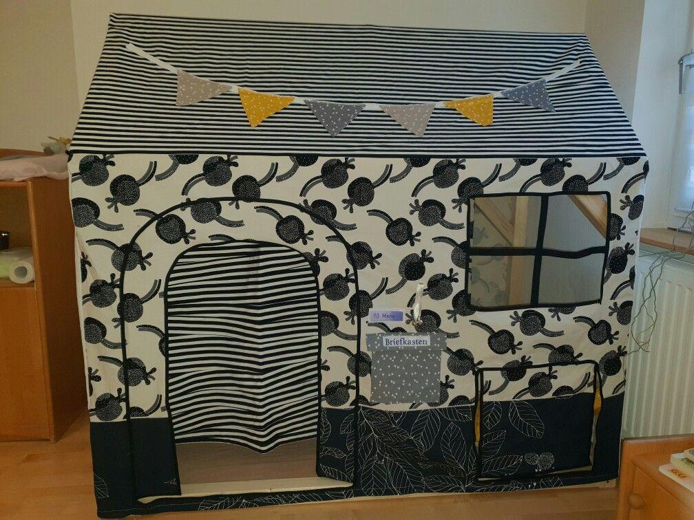 Diy Spielhaus Hausbett Fur Matratze 70x140 Cm Kinderzimmer Stoff Diy Spielhaus Hausbett