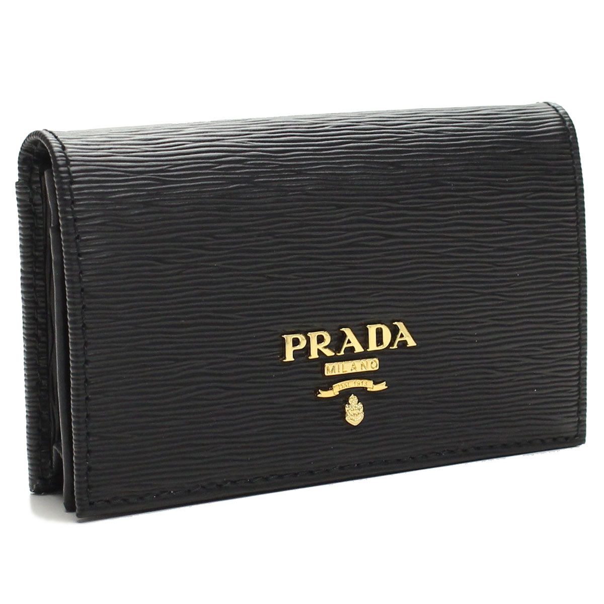 Prada Saffiano Leder Business Card Holder Mit Prada Saffiano
