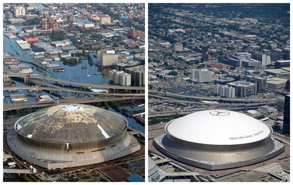 Then And Now New Orleans 10 Years After Hurricane Katrina New
