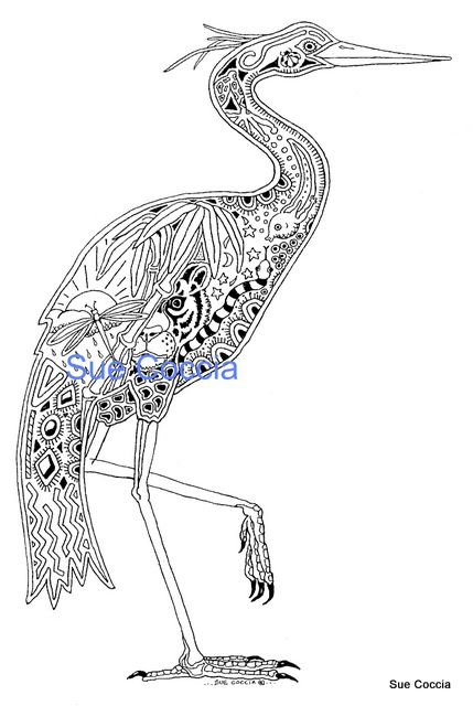 Earth Art Internatonal Heron Bird Drawings Heron Animal