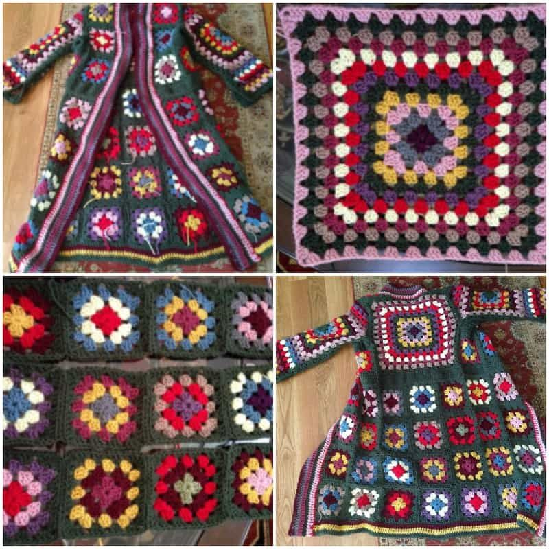 Crochet Granny Square Jacket Tutorial Pattern