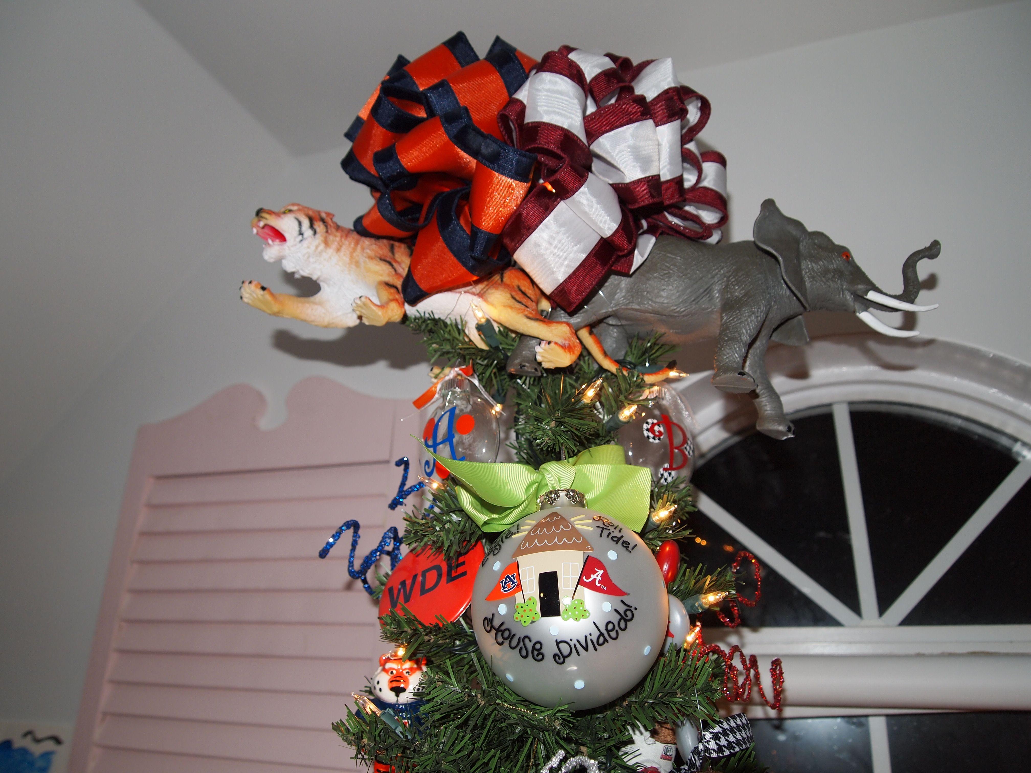 Topper for house divided tree...AU/UA Christmas tree