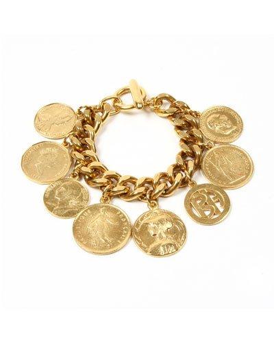 Ben-Amun Chain-Link Coin Drop Bracelet | Products | Coin bracelet
