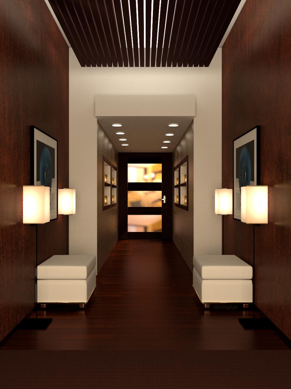 Hallway lighting modern  The hallways in a modern style  The Hallways In A Modern Style