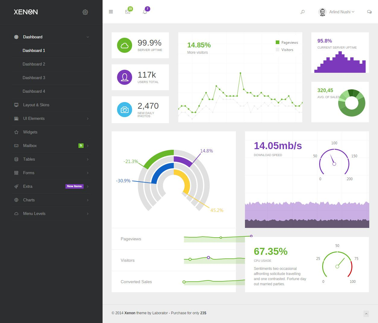 Xenon Premium Responsive Angularjs Html5 Theme Dashboard Template Dashboard Design App Development Design