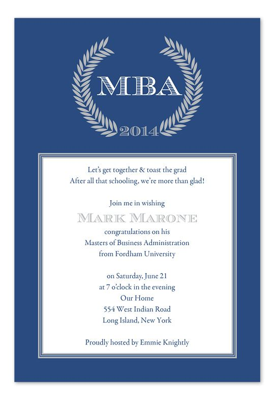 graduation invitation wording home graduation graduation - Business Event Invitation