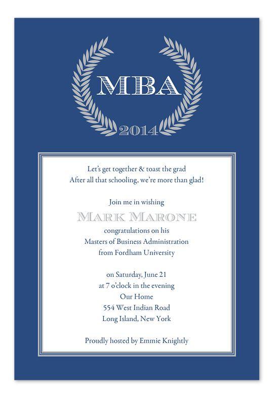 Mba Invitation Party Templates