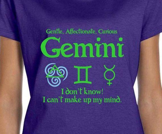 b14dc7b5 Mens & Womens Gemini Horoscope T Shirt Gift for Her by RudeMonster ...