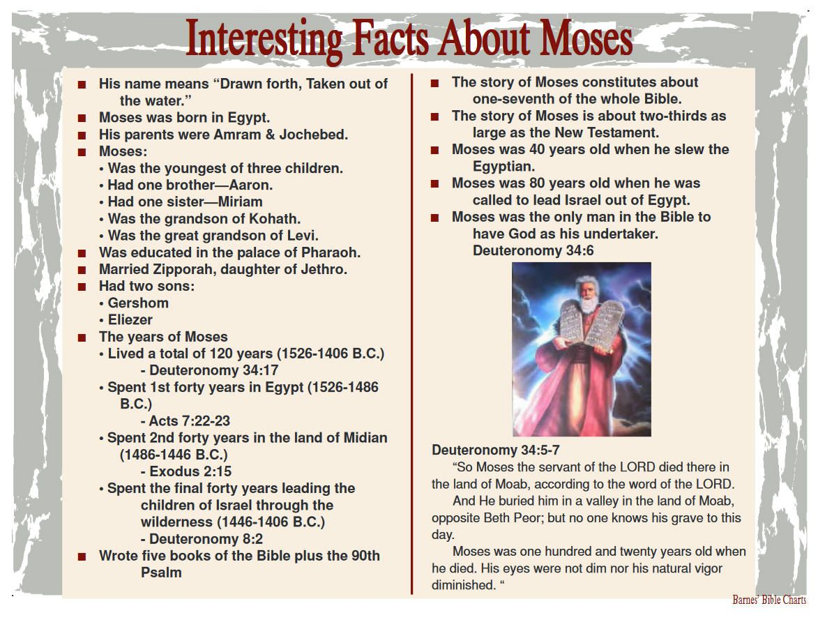 Interesting Facts About Moses