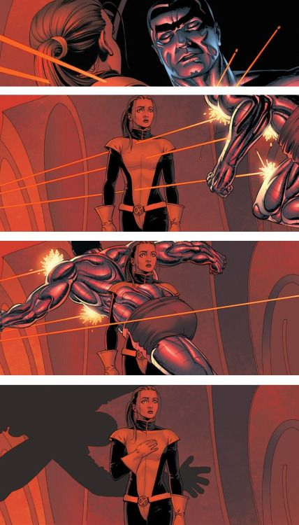 Kitty & Colossus - John Cassady: One of the most touching X-Men scenes ever. Whedon and Cassaday's run was legendary.