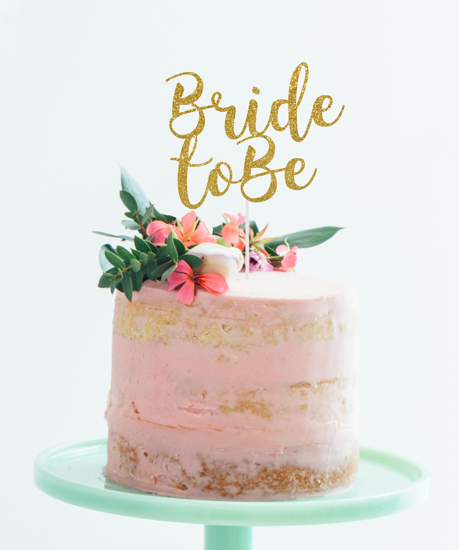 Bride to be cake topper bridal shower cake topper bride
