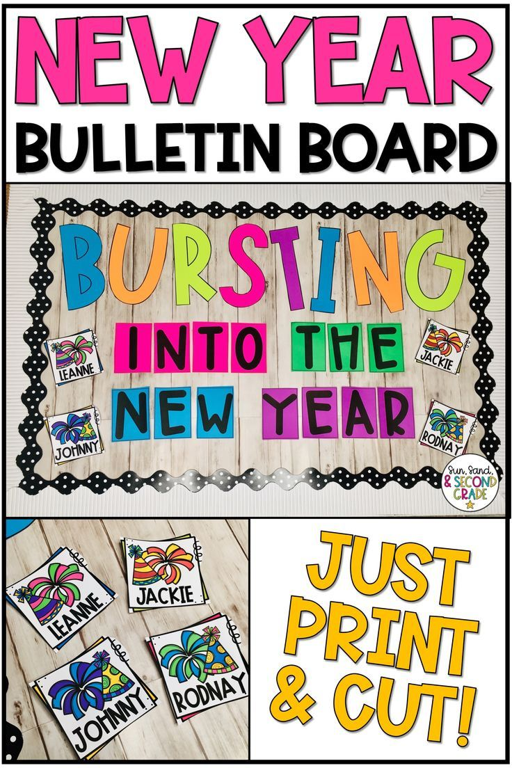 New Year Bulletin Board or Door Decoration | Door ...