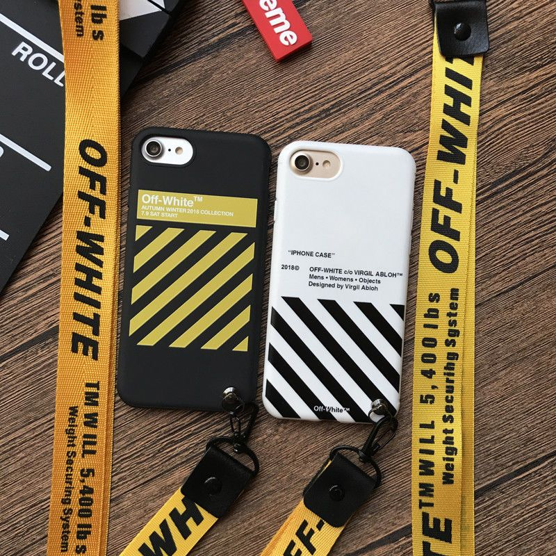 designer fashion 1804f ac729 3.99 GBP - Off White 2018Ss Lanyard Cover Case For Iphone 6 6S 6Plus ...