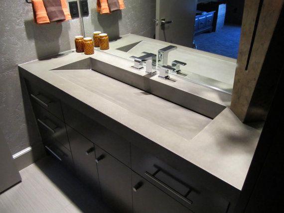 Concrete Vanity Top Concrete Countertops Amazing Bathrooms
