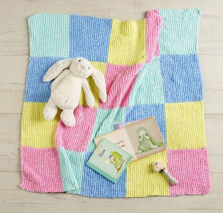 Knitted Squares Baby Blanket Patterns Pinterest