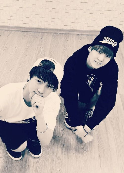 he's a cute boy. jin and suga. BTS Bangtan