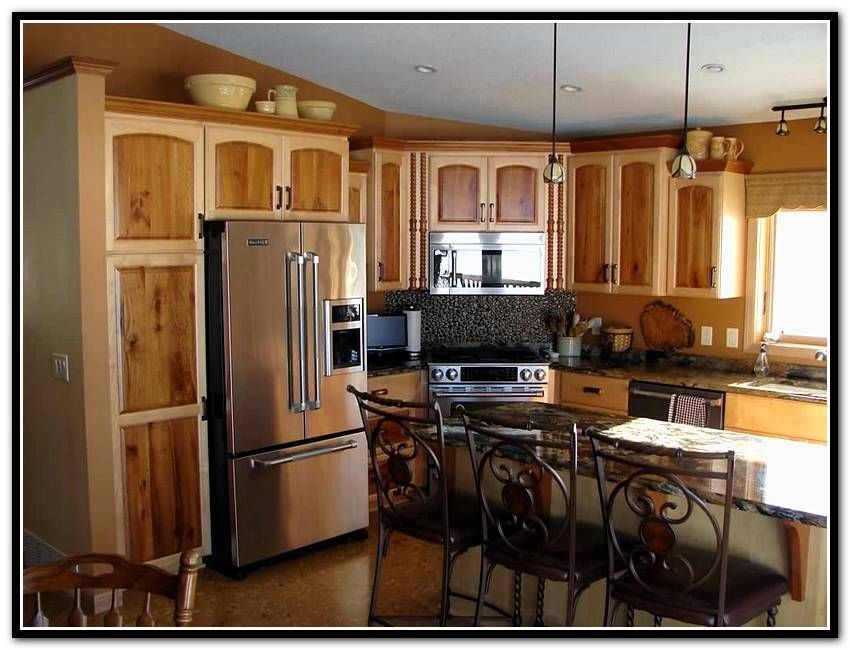 Two Tone Painted Cabinet Doors Home Design Ideas Toned Kitchen