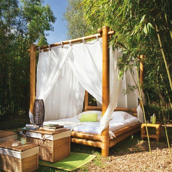 Le Lit En Bambou Authenticite Et Touche Zen Archzine Fr Lit